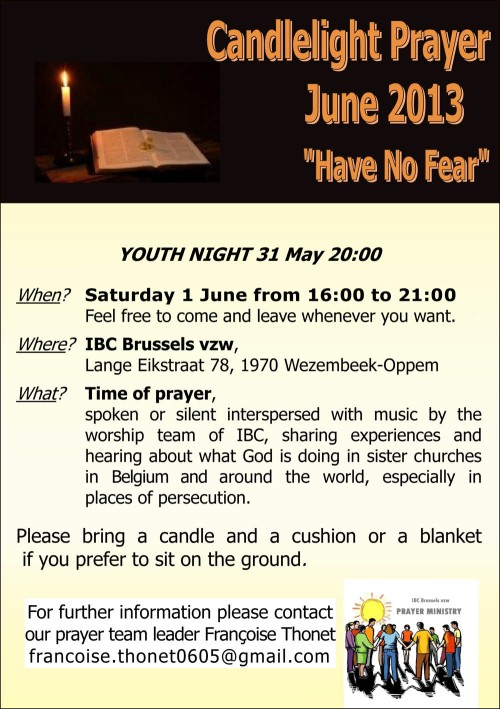 Candlelight Prayer Flyer June 2013