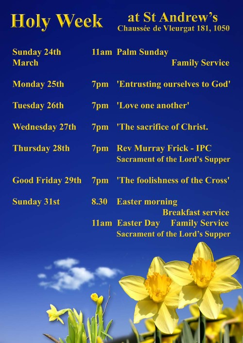 Holy Week at St Andrews 2013