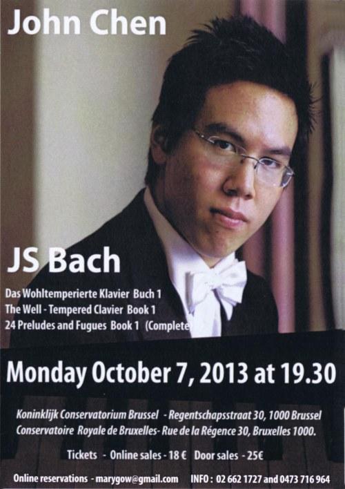 John Chen JS Bach concert Oct 2013