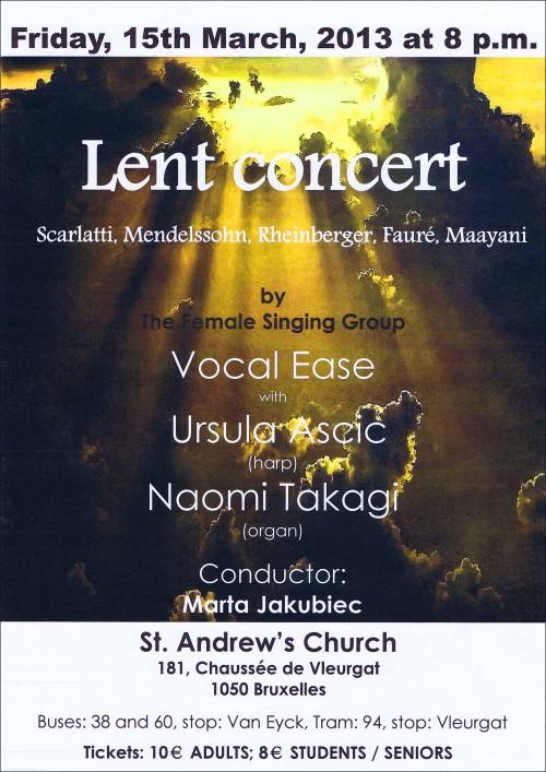 Lent Concert 2013