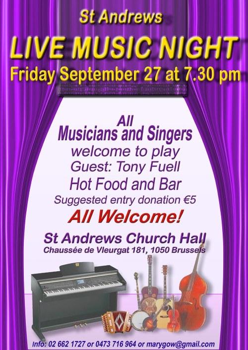 Live Music Night Sept 17 2013