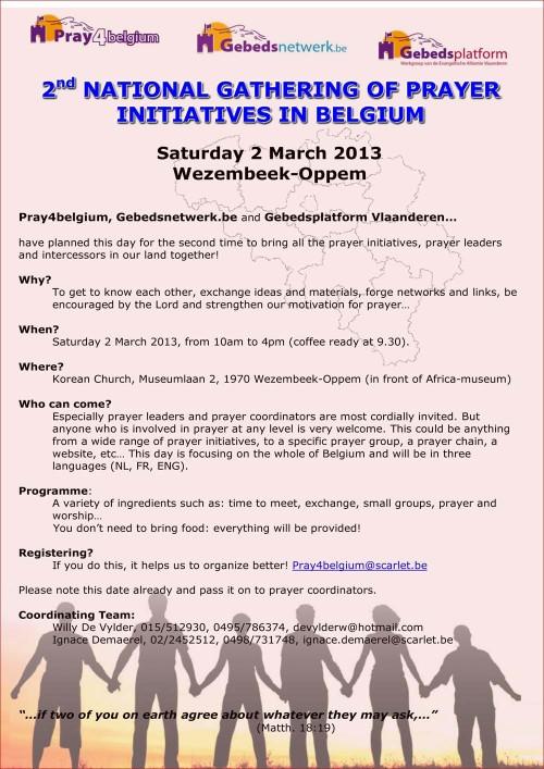 Pray4Belgium National Gathering 2 March 2013