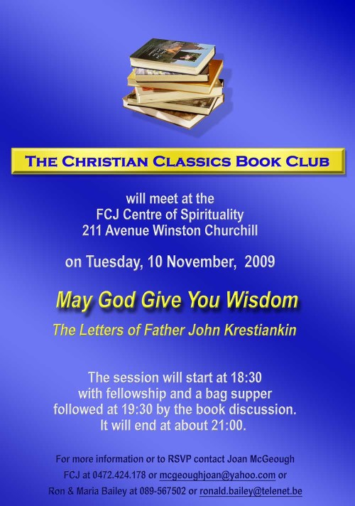 The Christian Classics Book Club Nov 09