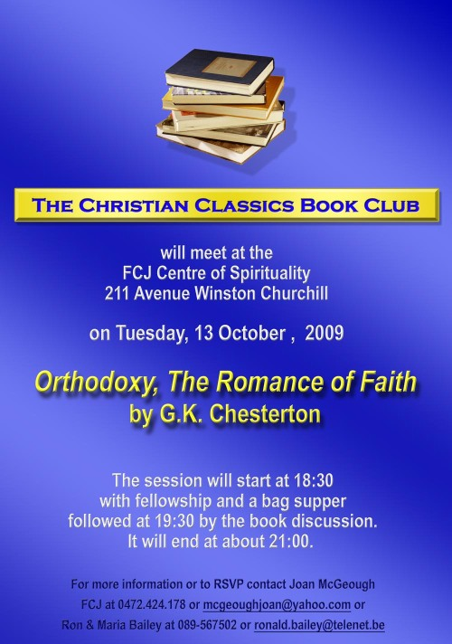 The Christian Classics Book Club Oct 09