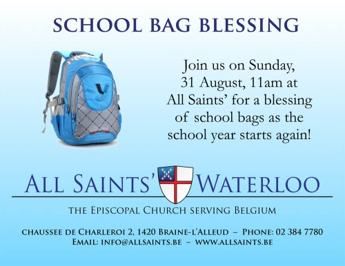 School Bag Blessing