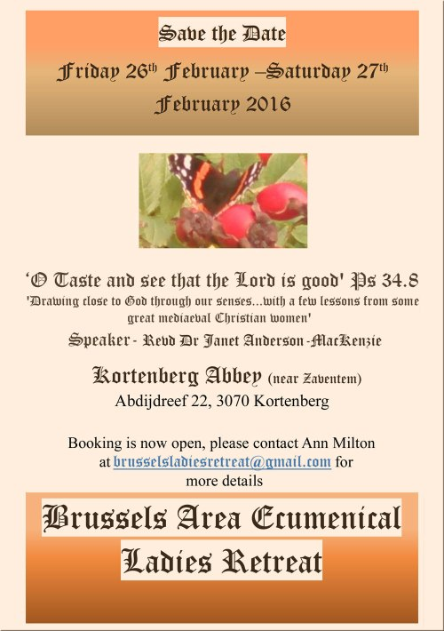 Brussels Area Ecumenical ladies Retreat 2016