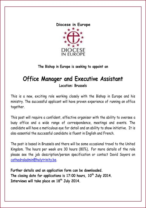 CE Office Manager Advert