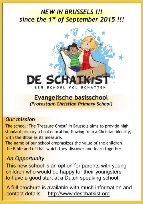 De-Schatkist school poster