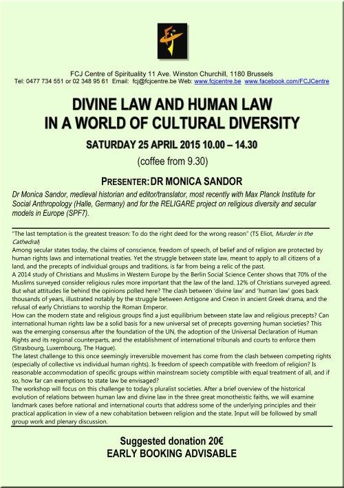 FCJ Divine Law Human Law 25 April 2015