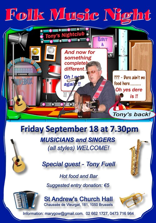 Folk Night Tony's Back 18 Sept 2015