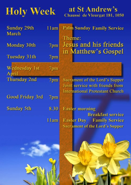 Holy Week at St Andrews 2015