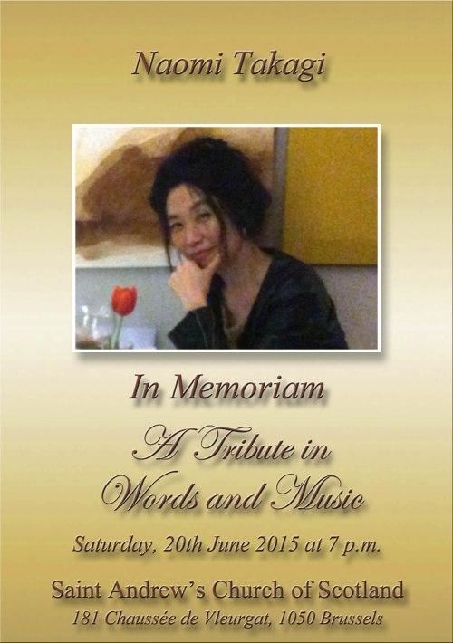 Naomi Takagi - In Memoriam 20 06 15