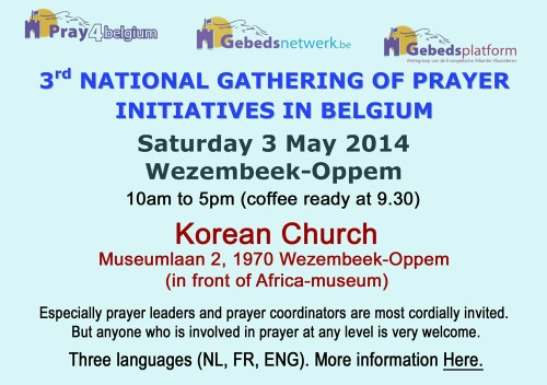 Pray4Belgium 3 May 2014-nationalgathering