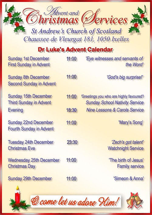 St Andrews Christmas Services 2013