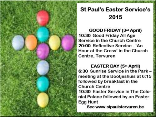 St Pauls Easter Services 2015
