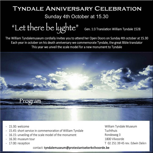 William Tyndale event 2015